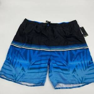 New Burnside mens swim shorts Sz XXL black blue trunks V880
