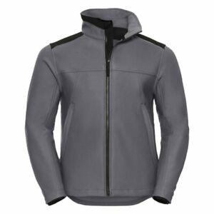 Russell 018M Heavy Duty Workwear Softshell Jacket Medium TEFLON WATER REPELLENT
