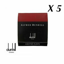 5 Packet of Alfred Dunhill Lighter Flints - Red - For Rollages Lighters - 9 pack
