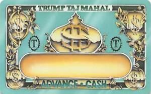 Trump Taj Mahal Casino - Atlantic City, NJ - Slot Card