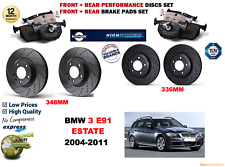 FOR BMW 330i E91 ESTATE 05-11 FRONT & REAR PERFORMANCE BRAKE DISC SET + PADS KIT