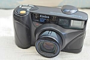KONICA Z-UP 28W 35MM FILM 28-56MM WIDE-ZOOM COMPACT CAMERA WITH STRAP ORIGINAL