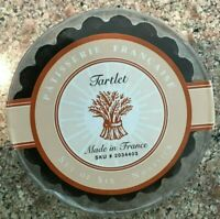 """Patisserie France Fluted Non stick Tartlet Mini Quiche Pans 4"""" Set of 6 NEW"""