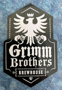 """Grimm Brothers Brewhouse Sticker/Decal Loveland COLORADO Beer 2-1/4""""x3-1/2"""" NEW"""