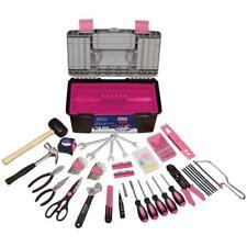Apollo Household Tool Kit Comfort Grip Handles 170 Piece w/ Storage Box Pink New