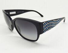 GIORGIO ARMANI 8014-B 5017/8G Sunglass Black CRYSTALS/Gray Gradient ITALY Z6/25