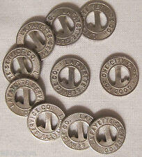 10 Lot Lafayette Indiana Service Co. Railway Tokens Letter L whotoldya Lot 81716