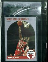 BGS RAW 9 MINT SILVER MICHAEL JORDAN 1990 NBA HOOPS 5 ALL-STAR CHICAGO BULLS HOF