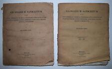 GLOSSARIUM SANSCRITUM Franz Bopp Fascicules 1 & 2 SANSCRIT Sanskrit Dummler 1840