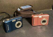 Insignia NS DSC 10B 10A 10MP Megapixel Digital Camera Blue Pink 3X Zoom Lot of 2