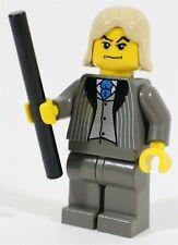 RARE LEGO HARRY POTTER 4731 LUCIUS MALFOY MINIFIGURE & WAND - NEW GENUINE
