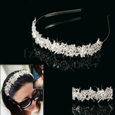 Wedding Crystal Flower Headband Hairband- Bride Bridesmaid Bridal Prom Tiara