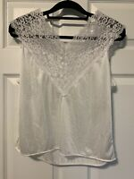 Vintage Metropolitan Lace & Silky Satin Cami Sissy Camisole Medium USA Made