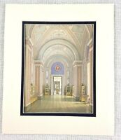 1983 Vintage Stampa The Romanov Royal Antiquity Galleria Interno Architettura