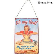 My Mother Sign - Large Metal Retro Novelty Vintage Plaque Signs Mum Dad Wine