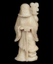 China 20. Jh. Speckstein Statue - Chinese Soapstone Figure of Li Tieguai Chinois
