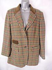 LECOMTE Tweed Equestrian Country Jacket Size UK10 EU36 Coat 75% Wool