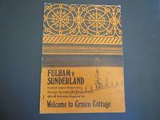 Fulham V Sunderland  1973/4  1