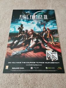 Genuine ORIGINAL Final Fantasy XIII Lightning PS3 360 Launch Poster FREE POSTAGE
