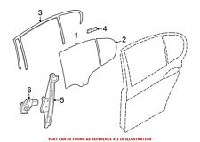 For BMW Genuine Side Window Vent Rear Left 51357269553