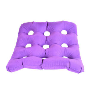 Air Cushion Seat Pad for Bed Sores Pain Relieving Wheelchair Sitting Purple