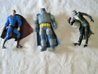 "DC Comics Action Figure (6""-7"") Lot - Batman, Joker & Superman"
