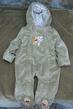 "NEW POOH BABY WINTER SUPER COZY 1-PIECE BY THE D STORE 3-6MOS ""WINNIE'S SO CUTE"""