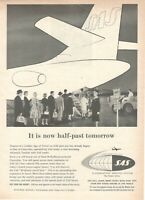 1959 Original Advertising' SAS Scandinavian Airlines System Company Aerial It Is