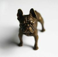 Solid Brass Big French Bulldog Ornament Pure Copper Animal Charm Desk Decoration