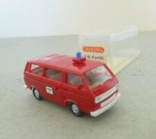 Early Wiking 1/87th HO Scale 1970's Volkswagen Kombi 'Feurerwehr' Van