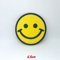Smiley Face Clothes T Shirt Badge Iron On Sew On Embroidered Patch#300