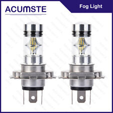 2X 6000K H4 9003 HB2 100W White LED Fog Hi/Lo Beam Light Bulbs Driving DRL