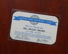 KODAK PARK PIONEERS CLUB CARD/cks/211702