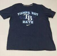 Tampa Bay Rays Nike Baseball T Shirt Mens White short sleeve Cotton size L Large