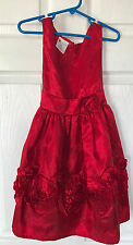 Holiday Editions Red Roses Girl's size 4/5 Formal Holiday Dress