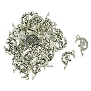 50Stk.Stern und Mond Anhänger DIY Schmuck Herstellugen für Halskette,Armband