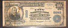 Paducah, Ky 1902 $10 Pb City National Bank Ch 2093 Fr 629