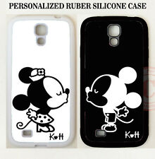 Personalized Love Couple BLACK WHITE Mouse KISS 2 CASE For Samsung Galaxy Note 5