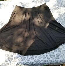 Womens Metro 7 Black Flowy Skirt S w/ Pockets