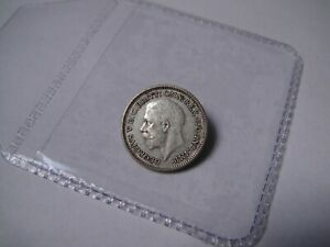 1926 Threepence, Modified Effigy, scarcer date