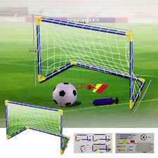 2 MINI OUTDOOR INDOOR CHILDREN'S KID'S SOCCER FOOTBALL GOALS BALL POST NET CHILD
