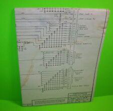 Stern 9-22-77 Original MPU Control Board Pinball Machine Service Schematic