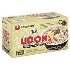 Nong shim Premium Udon Noodle Soup Bowls 1 box of 6 Bowls (276g)