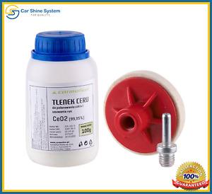 Cerium Oxid CEO2 Glass Polishing kit with polishing felt