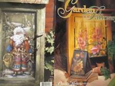 Garden Pathways Painting Book-Koskey- Northwood Santa/Sunflowers/Hollyhocks/Leav