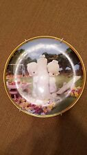Precious Moments Retired Thee I Love plate with included plate hanger