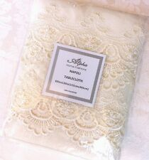 GORGEOUS XL NEW Ivory White French European Lace Polyester Wedding Tablecloth