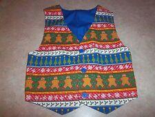 Children's Boys or Girls Christmas Gingerbread Holiday Vest Handmade Size 4 or 5