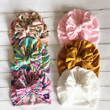 Baby Turban Hat Girl Infant Newborn Toddler Messy Bow Top Knot Headband TopKnot