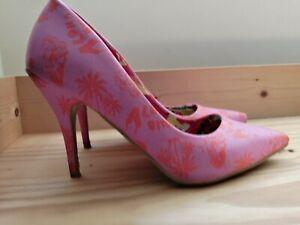 Iron Fist Aloha Orange And Pink Court Shoes UK 7